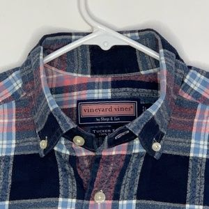 Vineyard Vines Mens Casual Shirt Pink Blue Plaid
